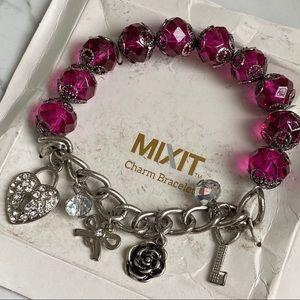 🎉5/20 SALE🎉 mixit charm bracelet silver/pink